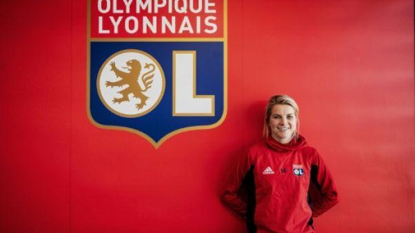 L'attaquante de l'OL Ada Hegerberg, le 18 mars 2019 à Décines-Charpieu