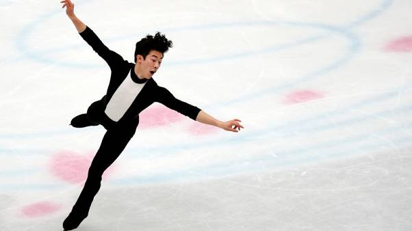Figure skating - Defending champion Chen takes strong lead in men's short programme