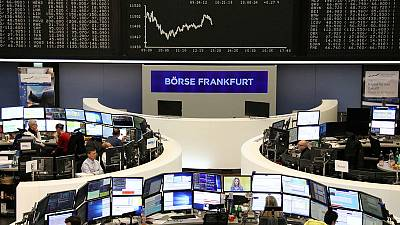No Fed boost for European stocks as banks fall; chipmakers shine