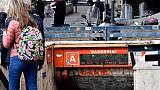 Rotta scala,stop fermata metro Roma