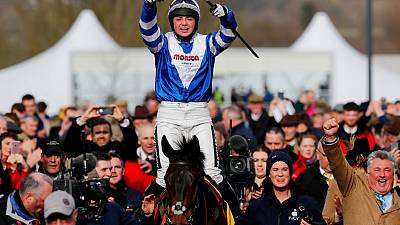Horse racing - Frost to miss Grand National with broken collarbone