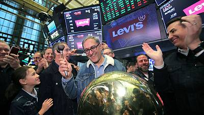 Levi Strauss shares surge 31 percent in return to stock market