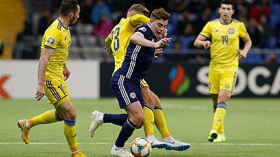 Kazakhstan thrash Scotland to launch Euro 2020 campaign