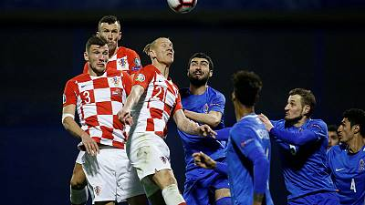 Kramaric nets late winner as Croatia beat Azerbaijan 2-1