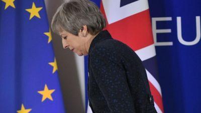 La Première ministre britannique Theresa May, le 22 mars 2019 à Bruxelles