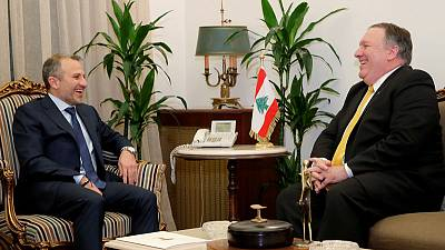 U.S. pressure on Hezbollah, Iran is working, Pompeo says in Beirut