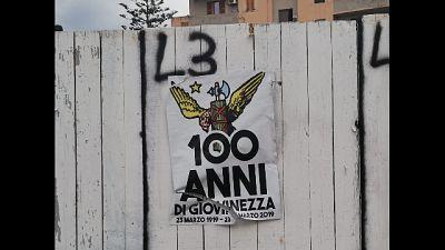 Manifesti fascisti affissi nel Sulcis