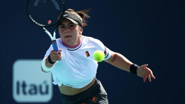 La Canadienne Bianca Andreescu lors du tournoi de Miami le 21 mars 2019
