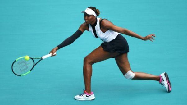 L'Américaine Venus Williams lors du tournoi de Miami le 21 mars 2019