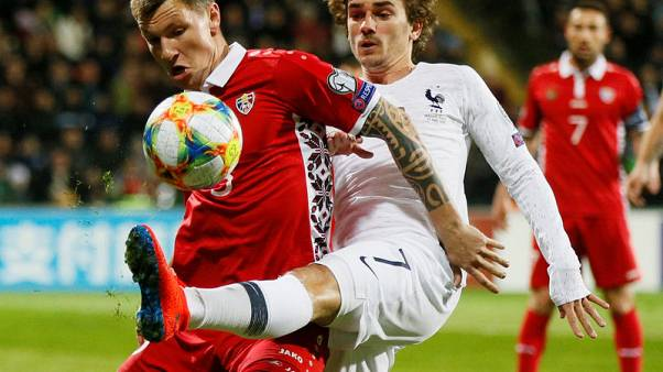 France start Euro qualifying campaign with 4-1 win
