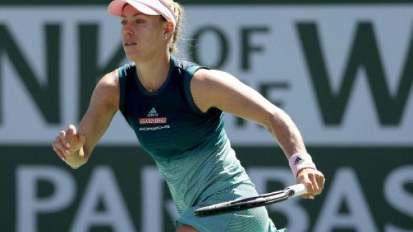 L'Allemande Angelique Kerber lors du tournoi d'Indian Wells le 17 mars 2019