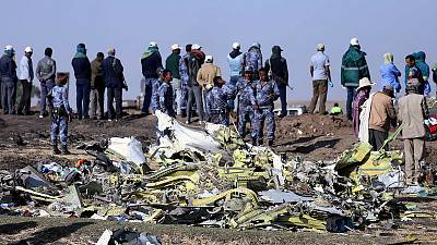 Holding back at the scene of the Ethiopian Airlines crash