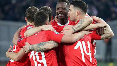 Swiss survive difficult first half to beat Georgia