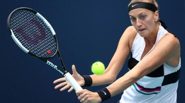 La N.2 mondiale Petra Kvitova lors du tournoi de Miami le 21 mars 2019