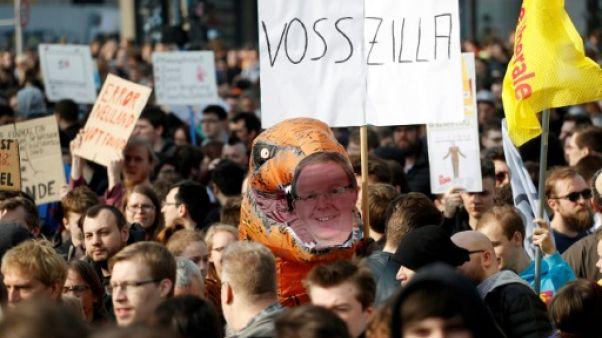 Allemagne: manifestations contre la réforme du droit d'auteur
