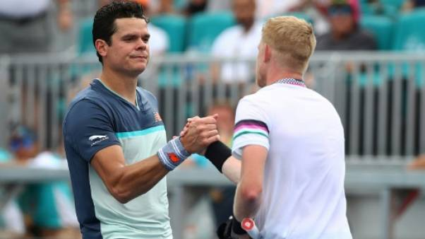 Tennis: Raonic cale au 3e tour à Miami