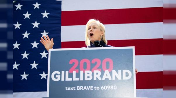 Kristen Gillibrand en meeting à New York, le 24 mars 2019