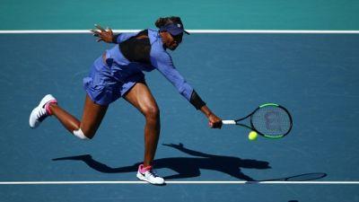 L'Américaine Venus Williams lors du tournoi de Miami le 22 mars 2019