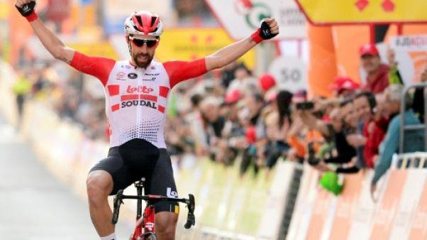 Tour de Catalogne: de Gendt remporte en solitaire la 1re étape