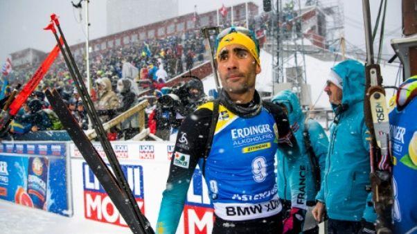 """Biathlon: """"A aucun moment, je n'ai pensé arrêter"""", affirme Fourcade"""