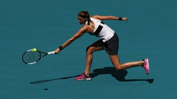 Tennis: une sieste et une victoire pour Kvitova à Miami, Andreescu revient sur terre