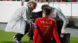 رونالدو يغادر الملعب مصابا في مباراة للبرتغال بالتصفيات