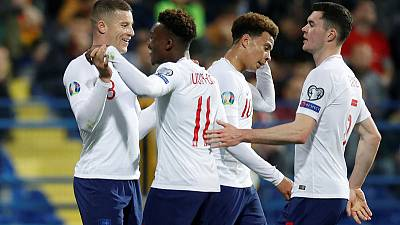 England thrash Montenegro after early scare