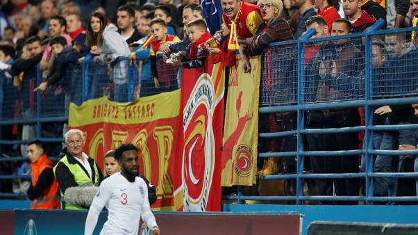 Disciplinary proceedings opened into racist incidents at Montenegro v England match - UEFA