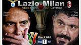 Coppa Italia: Milan-Lazio il 24 aprile