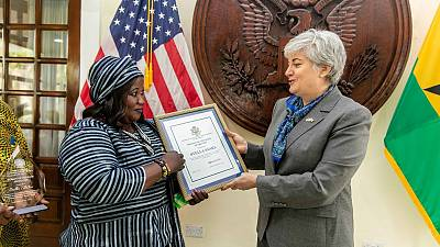 "Ambassador Sullivan Honors Stella Saaka with ""Ghana Woman of Courage"" Award"