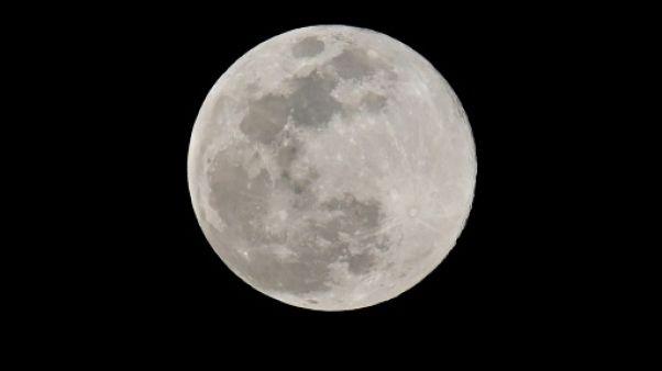 La Lune vue depuis Los Angeles, le 20 mars 2019