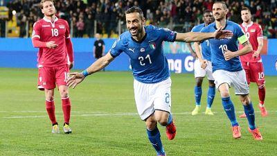Italia,standing ovation per Quagliarella