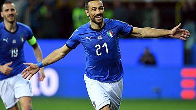 Football - Veteran Quagliarella helps rejuvenated Italy thrash Liechtenstein