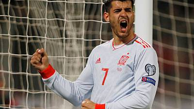 Football - Morata double gives Spain win over defensive Malta