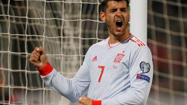 Football - Morata double gives Spain win over defensive Malta