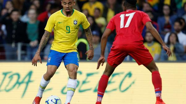 Football - Jesus double leads Brazil to 3-1 win over Czechs