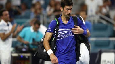Tennis: Novak Djokovic chute en 8e de finale à Miami