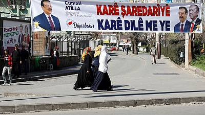Ousted party seeks to reclaim Kurdish heartlands in Turkish vote