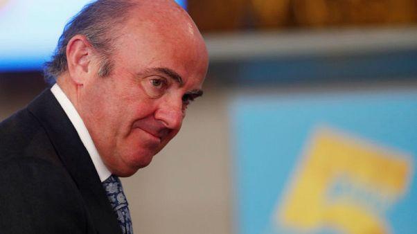 Weak euro zone growth could raise stability risks - ECB's de Guindos
