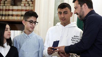 Salvini: cittadinanza solo a Ramy e Adam
