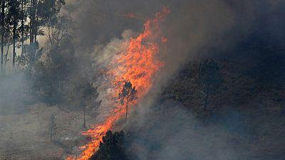 Wildfires blaze across unseasonably hot, dry Portugal