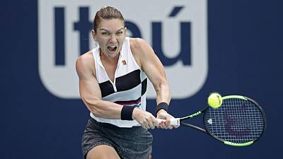 Tennis - Halep sees off Wang to move into Miami semis