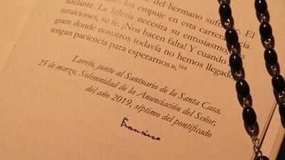 Esortazione firmata papa in museo Loreto