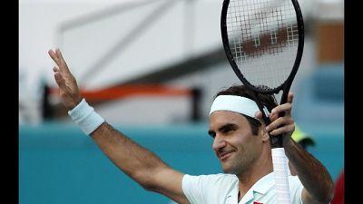 Tennis: Federer nei quarti a Miami
