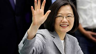 Taiwan president, seeking tanks and fighters, says U.S. responding positively