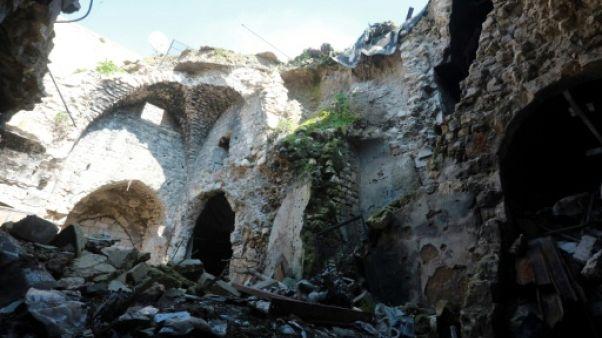 Les ruines de la vieille ville d'Alep le 12 février 2019