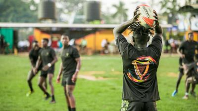 The Rugby Cranes 7s team ready for the Hong Kong Sevens