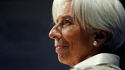 IMF's Lagarde urges euro zone to agree deposit insurance scheme
