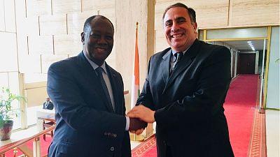 Entretien entre le Président Ouattara et l'Ambassadeur Alex Laskaris, Commandant Adjoint d'AFRICOM