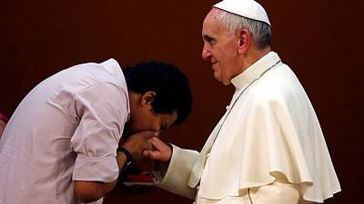 It was getting out of hand - Pope explains ring kissing mystery